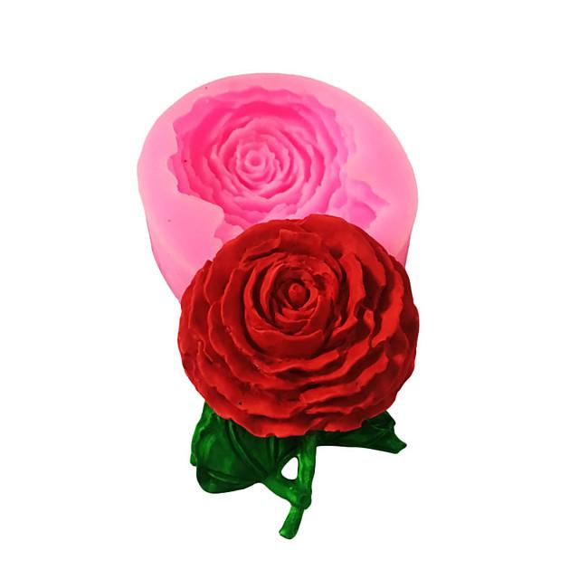 3d fondant torta rózsa forma diy csokoládé sütés szilikon 1db