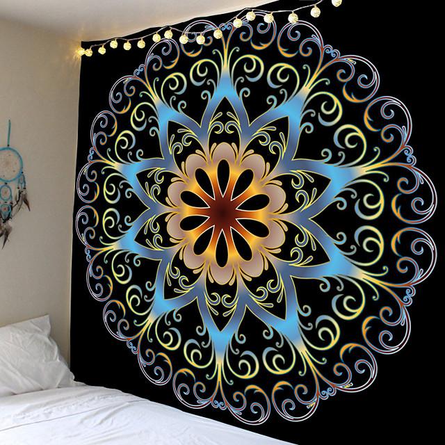 mandala boemska zidna tapiserija art dekor pokrivač zavjesa koja visi dom spavaća soba dnevna soba spavaonica ukras boho hipi psihodelični cvjetni cvijet lotos indijski