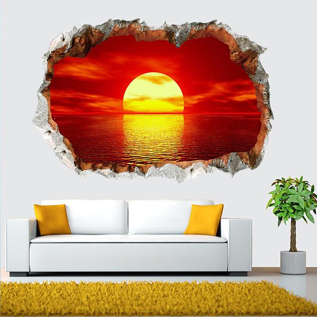 풍경 벽 스티커 거실, 이동식 pvc 홈 장식 벽 데칼 60 * 40cm