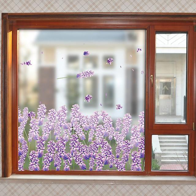 매트 / 꽃 60 cm 58 cm 창문 스티커 / 매트 / 문 스티커 PVC