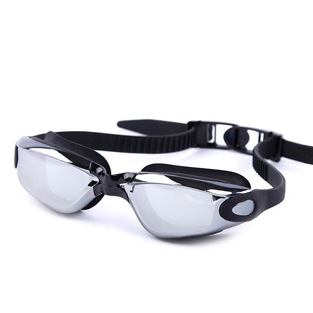 Lunettes de natation Etanche Antibrouillard Taille ajustable Correctifs Protection UV Miroir Pour Gel de silice Polycarbonate Blanc Gris Noir Gris Noir Bleu