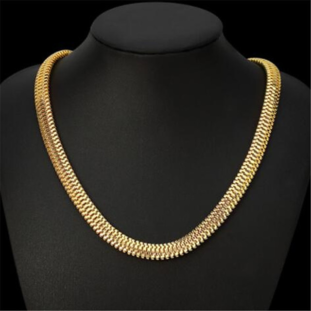 نسائي قلادات السلسلة كلاسيكي وردة موضة مطلية بالذهب ذهبي 50 cm قلادة مجوهرات 1PC من أجل