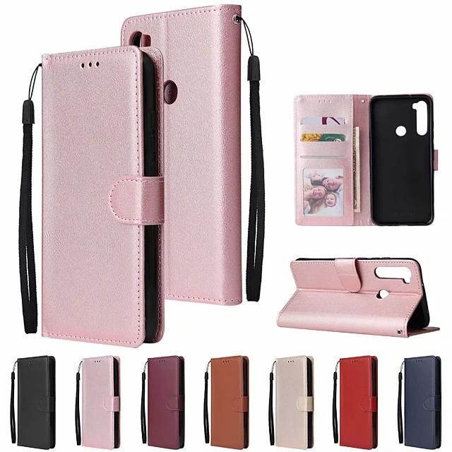 τηλέφωνο tok Για Xiaomi Πλήρης Θήκη Δερμάτινη θήκη Θήκη που Κλείνει Xiaomi Mi 9Τ Redmi Note 8 Pro Redmi Note8T Θήκη καρτών Ανοιγόμενη Συμπαγές Χρώμα PU δέρμα TPU