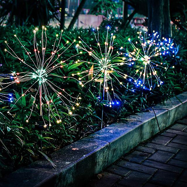 LOENDE 12.5cm Φώτα σε Κορδόνι 120 LEDs 1set Θερμό Λευκό Άσπρο Πολύχρωμα Χριστούγεννα Πρωτοχρονιά Αδιάβροχη Ηλιακής Ενέργειας Χριστουγεννιάτικη διακόσμηση γάμου Încărcare Solară