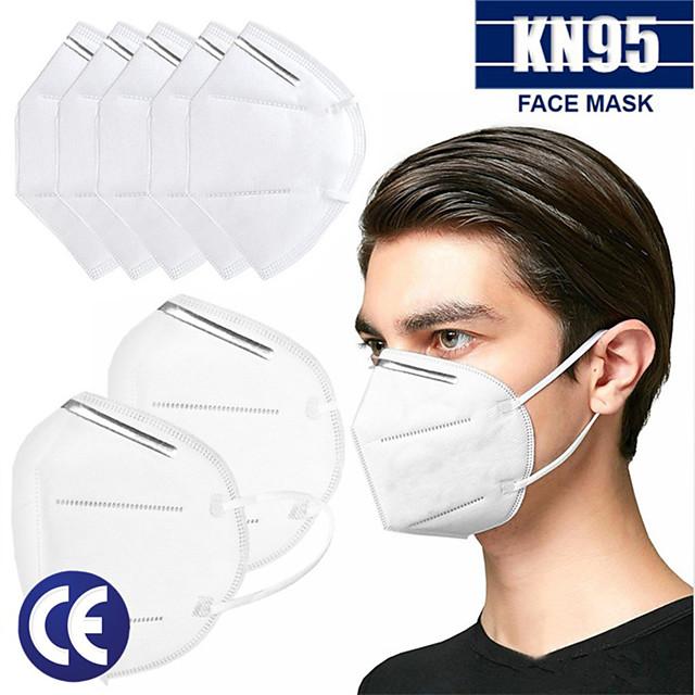 20 pcs KN95 Masque Respirateur Protection En stock Tissu non-tissé Meltblown Blanche
