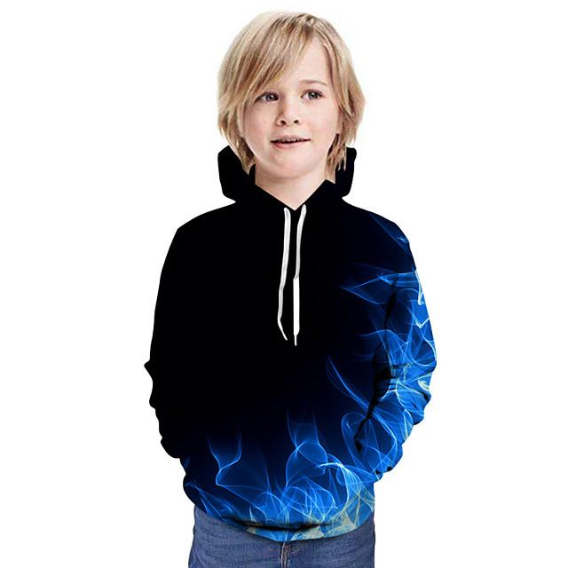子供 男の子 フーディーズ&スウェットシャツ 長袖 パッチワーク 3D プリント レインボー 子供達 トップの 活発的 ストリートファッション こどもの日