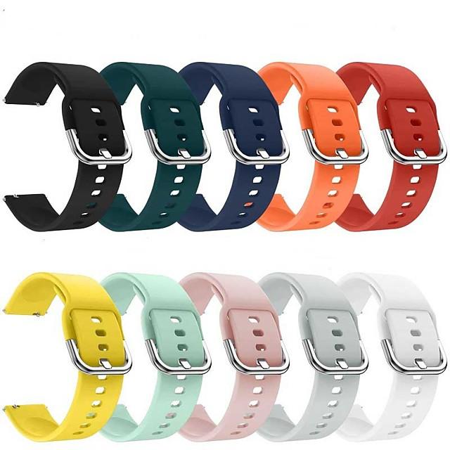 Ремешок для часов для Gear S2 / Умные часы Huami Amazfit Stratos 2/2S / Samsung Galaxy Watch Active Amazfit / фитбит наоборот 2 / Samsung Galaxy Спортивный ремешок / Современная застежка силиконовый