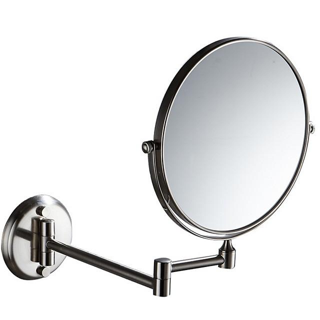 양면 미용 거울 욕실 화장 거울 양면 회전 접이식 거울 줌 드레싱 거울 siverly 1pc