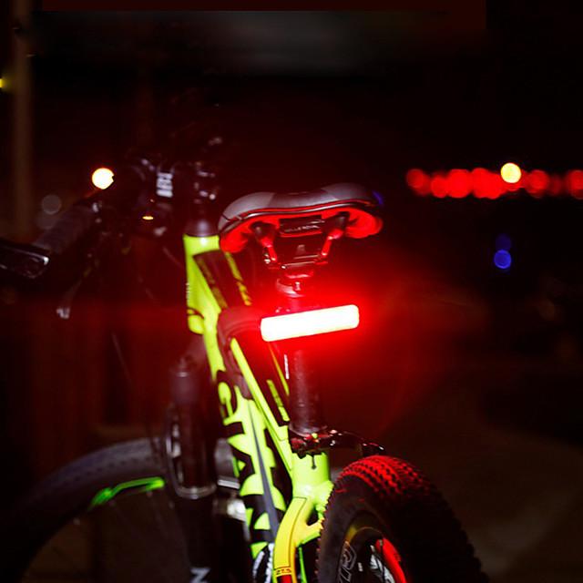 LED Luci bici Luce posteriore per bici luci di sicurezza Luci di coda LED Bicicletta Ciclismo Grandangolo Rilascio rapido Colore Graduale e Sfumato Litio-polimero 120 lm Batteria ricaricabile Rosso