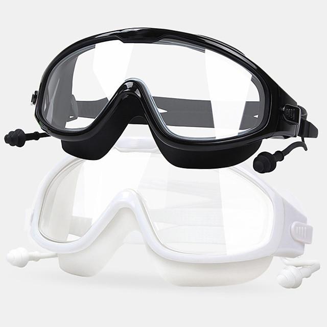 Lunettes de natation Taille ajustable Pas de fuite Pour Adulte Silikon Polycarbonate N / C Transparente