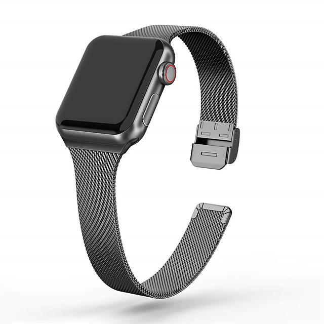 Ремешок для часов для Серия Apple Watch 5/4/3/2/1 Apple Миланский ремешок Нержавеющая сталь Повязка на запястье