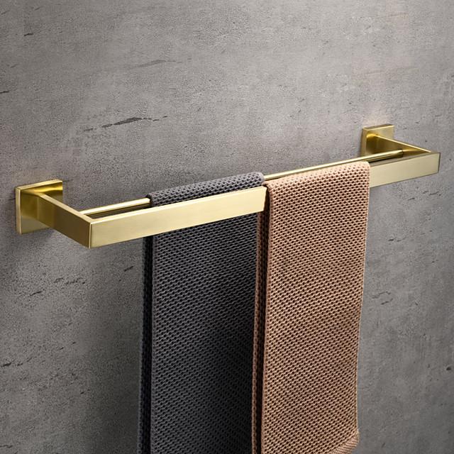 porte-serviettes porte-serviettes salle de bain barre à double pôle acier inoxydable étagère murale accessoires de quincaillerie barre de tour à 2 carrelages 30/40/50/60 cm