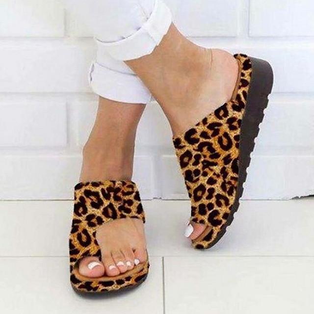 Women's Sandals Boho Bohemia Beach Flat Sandals Comfort Shoes Flat Heel Open Toe Daily PU Summer Camel Black Purple / Bunion Sandals