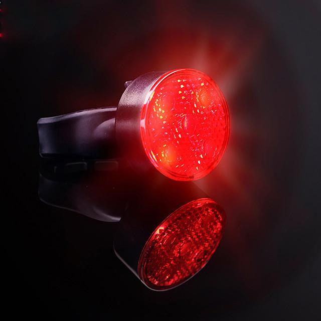 LED Luci bici Luce posteriore per bici LED Bicicletta Ciclismo Induzione intelligente Super luminoso Professionale Induzione automatica del freno Litio-polimero 120 lm Batteria ricaricabile