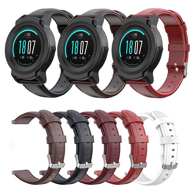 حزام من الجلد حزام المعصم ل ticwatch e2 / ticwatch s2 / ticwatch pro / ticwatch e / ticwatch 2 سوار معصمه للاستبدال