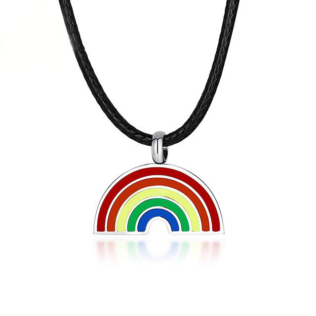 Riipus-kaulakorut Sateenkaari Ruostumaton teräs Käyttötarkoitus LGBT Pride Cosplay Miesten Naisten Pukukorut Muotikorut