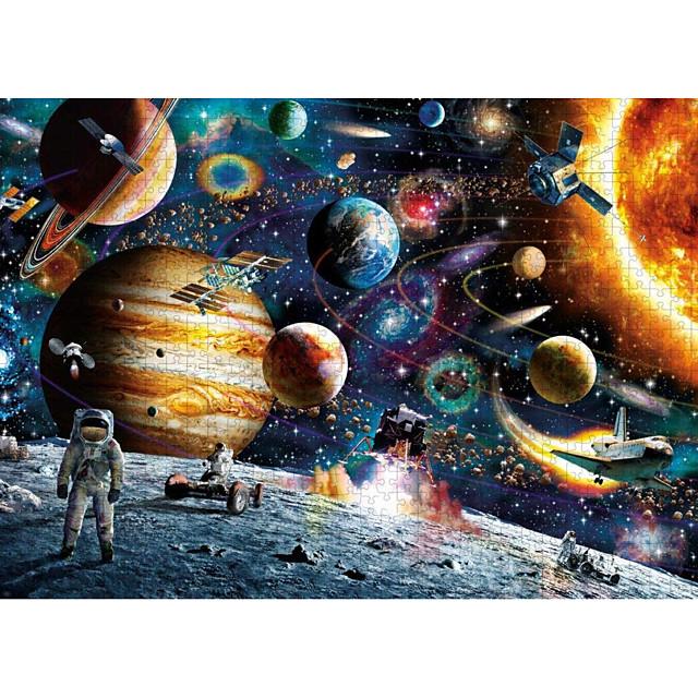 Puzzle Jeux Avec Pions en Bois Jouet Educatif Papier carton Adolescent Adulte Astronaute Espace Jouets de décompression 1000 pcs 6 ans et +