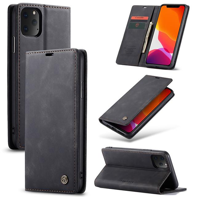 caseme retro poslovna kožna futrola za magnetsku oblogu za iphone 11 pro max / 11 pro / 11 / se2020 / xs max / xs / xr / x / 8 plus / 7 plus / 6 plus / 8/7/6 s poklopcem utora za novčanik
