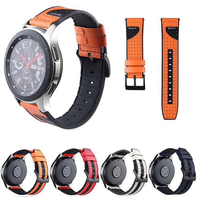 Pulseiras de Relógio para Gear S3 Frontier / Gear S3 Classic / Gear S3 Classic LTE Samsung Galaxy Pulseira Esportiva / Fecho Clássico Silicone / Couro Legitimo Tira de Pulso
