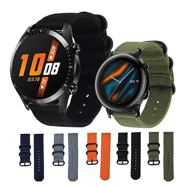 нейлоновый ремешок для часов для часов huawei gt 2 46mm / huawei watch gt замена мягкий нейлоновый ремешок с регулируемой пряжкой ремешок для часов huawei gt 2 / huawei watch gt