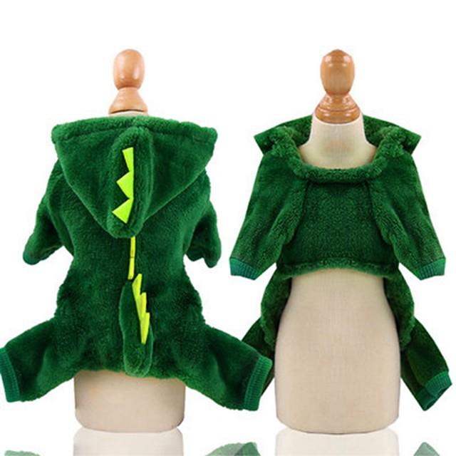 كلب ازياء تنكرية ملابس الجرو حيوان الكوسبلاي الشتاء ملابس الكلاب ملابس الجرو ملابس الكلب الدفء زهري أخضر كوستيوم للفتاة والفتى الكلب قطن XS S M L XL XXL
