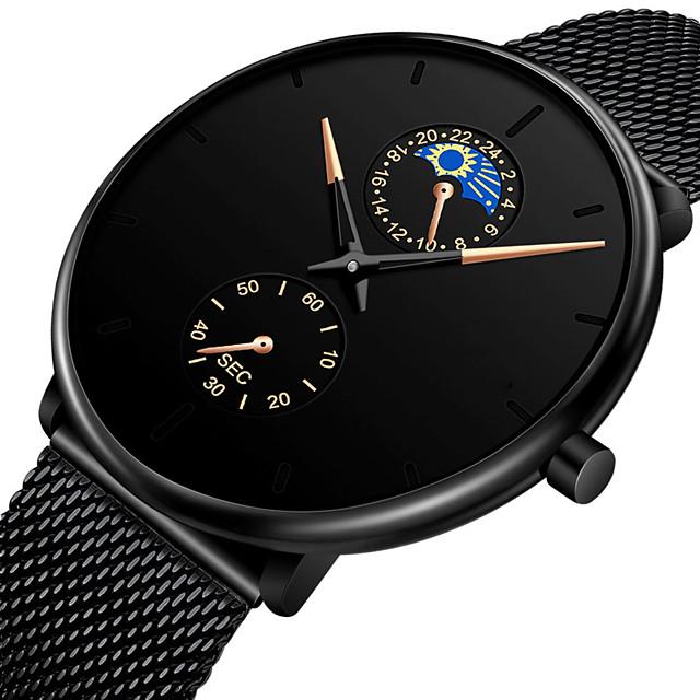 رجالي ساعات حزام معدني كوارتز ستايل حديث ستايل كاجوال ساعة كاجوال مماثل أسود أزرق أحمر / سنة واحدة / ستانلس ستيل