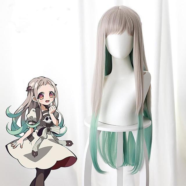 Hanako-kun atado al baño Nene Yashiro Pelucas de Cosplay Mujer Con flequillo 28 pulgada Fibra resistente al calor Liso Natural Múltiples colores Juventud Adulto Peluca de anime