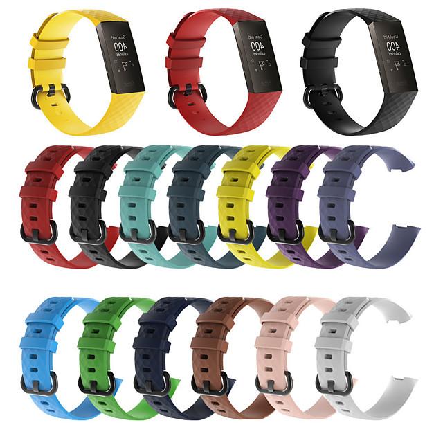 силикагель Ремешок для часов Ремень для Fitbit заряд3 20cm / 7.9 дюймы / 24см / 9 дюйма 1.8cm / 0.7 дюймы
