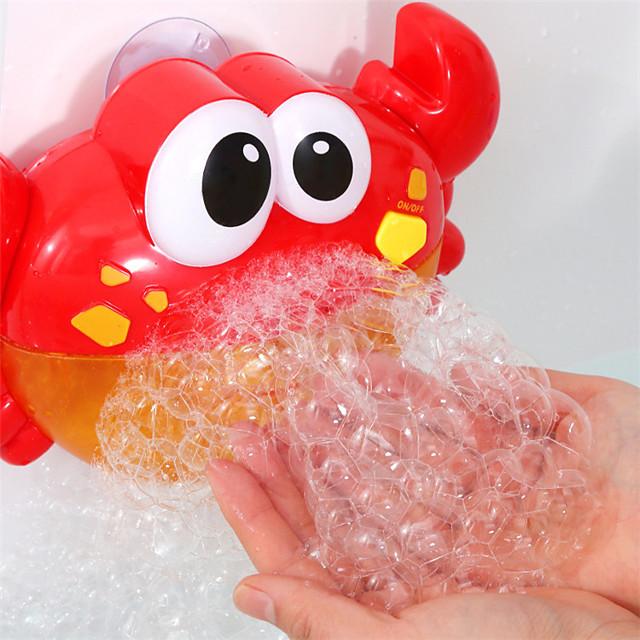 Jeu de Bain Machine à bulles Jouets pour piscine Jouet de baignoire de piscine d'eau Jouet de baignoire Crabe Plastique 24 chansons pour enfants Salle de Bain Eté pour les tout-petits, cadeau de