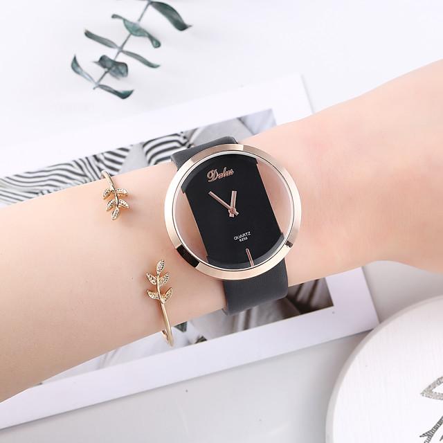 Damen Armband-Uhr Quartz Uhr Quartz Modisch Chronograph Analog Schwarz / Ein Jahr / PU - Leder / Ein Jahr