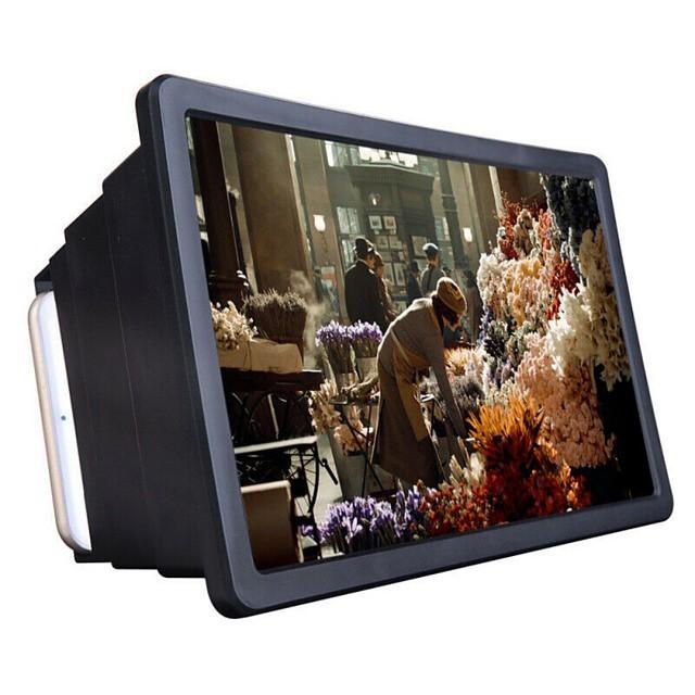 1 יחידות מגבר מסך טלפון סלולרי מגבר וידאו hd מגבר וידאו עם מחזיק מתקפל לעמוד מגבר וידאו באיכות גבוהה