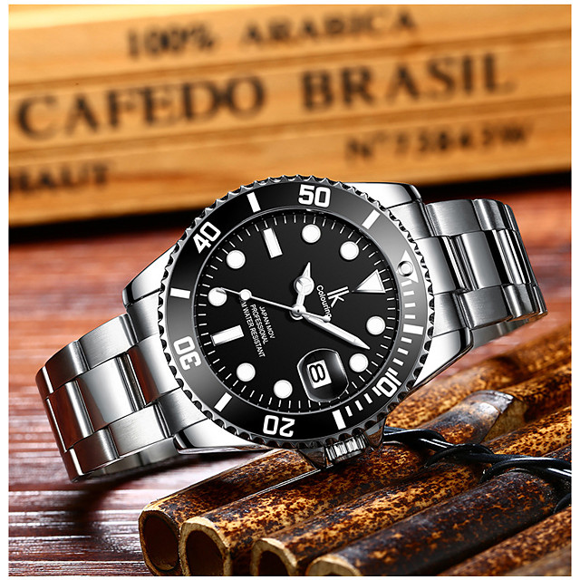 orologio meccanico Quarzo Di tendenza Resistente all'acqua Analogico Red + argento Bianco / Verde Bianco / Nero / Acciaio inossidabile