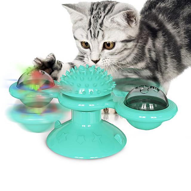 Jouets pour Chat Jouet interactif Jouet rotatif Ensemble de jouets pour chats Moulin à vent Jouets Interactifs pour Chat Jouets amusants pour chats Chat Petit Chat 1 jeu Rondes Compatible avec