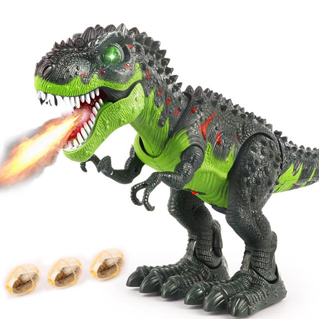 Jouet dinosaure Dinosaure marchant R / C Vacances Marche électronique Télécommande avec tête mobile, lumières, sons rugissants Articles de fête Enfant Adulte Faveurs de fête, jouets éducatifs de