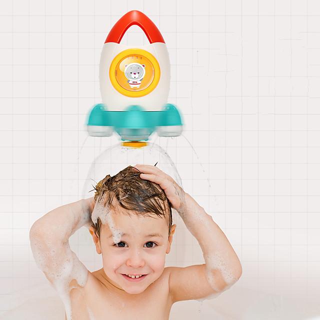 Zabawka do kąpieli Zabawki do kąpieli w wannie Zabawka do kąpieli w basenie z wodą Zabawka do wanny Kreskówki Rakieta kosmiczna Formowany ABS Rozpyl wodę Łazienkowe Dzieci Lato dla małych dzieci