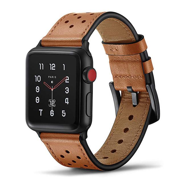 Pulseiras de Relógio para Apple Watch Series 5 / Apple Watch Series 4 / Apple Watch Series 4/3/2/1 Apple Pulseira de Couro Couro Legitimo Tira de Pulso
