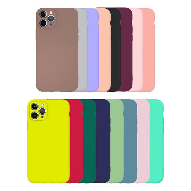 téléphone Coque Pour Apple Coque Arriere iPhone 11 Pro Max SE 2020 X XR XS Max 8 7 6 Ultrafine Dépoli Couleur Pleine TPU