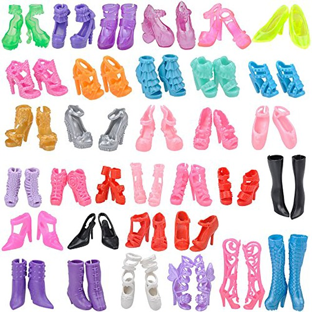 4Pairs Fashion Sneackers For Doll Mini Toy for  Doll Shoes Accessories VGCA