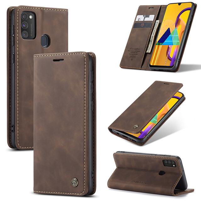 Hülle Caseme New Retro Business Leder Magnet Flip Case für Samsung Galaxy A91 / A81 / A71 / A51 mit Brieftasche Kartensteckplatz für Samsung Galaxy M30s / S20 / S20 Plus / S20 Ultra Case Cover