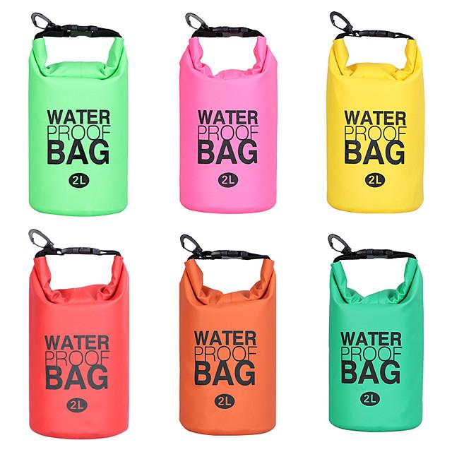 2 L حقيبة للماء جاف خفة الوزن الكيس العائم ذو الأسطوانة العائمة يحافظ على جفاف العتاد إلى سباحة تزلج على الماء الرياضات المائية