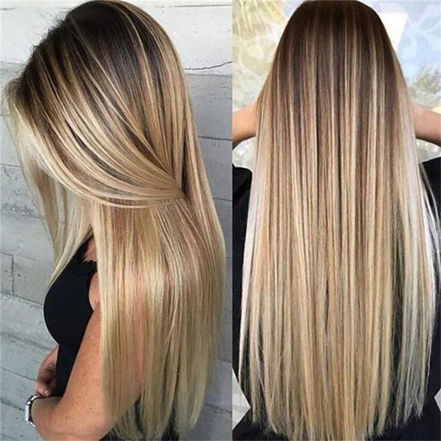 Dunklen blond bilder mit strähnen 60 wunderschöne