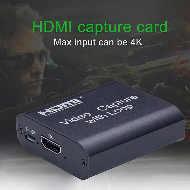 Scheda di acquisizione video HD 4K Acquisizione video HDMI USB 2.0 con loop streaming Trasmissione live di registrazioni video per l'acquisizione ad alta definizione