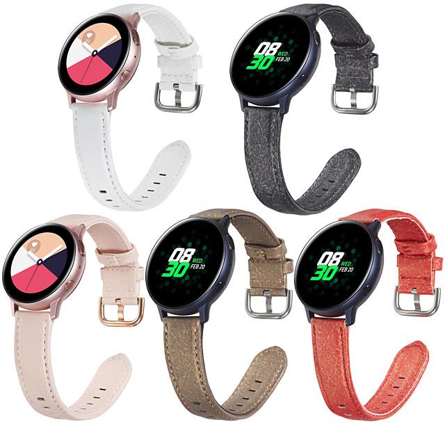 حزام إلى Vivoactive 3 / Samsung Galaxy Watch 46mm / Samsung galaxy watch 42mm Samsung galaxy sport band / كلاسيكي بوكلي / فرقة عمل جلد طبيعي حزام المعصم