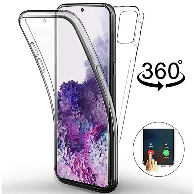 teléfono Funda Para Samsung galaxia Funda de Cuerpo Entero Silicona Estuche de silicona S20 Ultra A91 / M80S A51 Antigolpes Ultrafina Transparente Transparente TPU Silicona