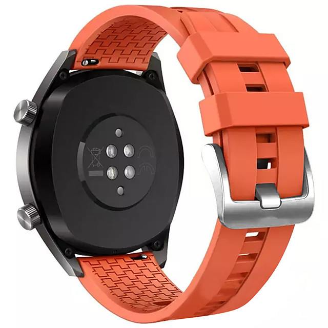 Huawei watch gt2 46mm spor band için 22mm bilek kayışı silikon watch band