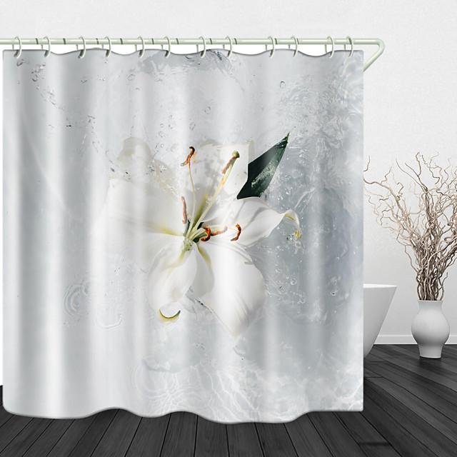 prekrasan prskanje vode digitalni tisak vodonepropusna tkanina zavjesa za tuširanje za kupaonicu uređena kućnim dekorom prekrivena zavjesama za kadu postava uključuje kuke