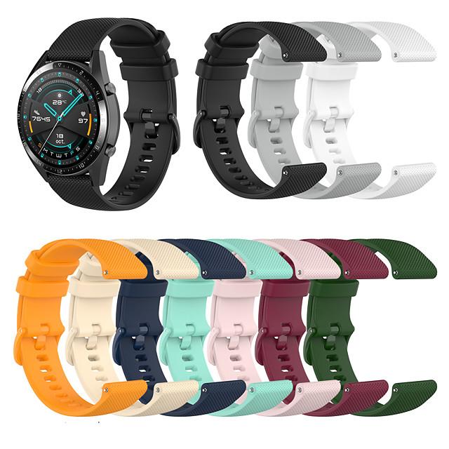 Ремешок для часов для Huawei Fit / Huawei Honor S1 / Huawei Watch / Huawei B5 FOSSIL / Huawei / Withings Спортивный ремешок силиконовый Повязка на запястье