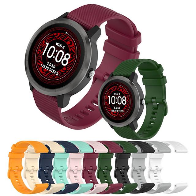 силиконовый браслет для garmin vivoactive 3 / forerunner 245m / forerunner 645 ремешок для часов смарт-замена часов для garmin vivoactive 3/245 / 245m / 645