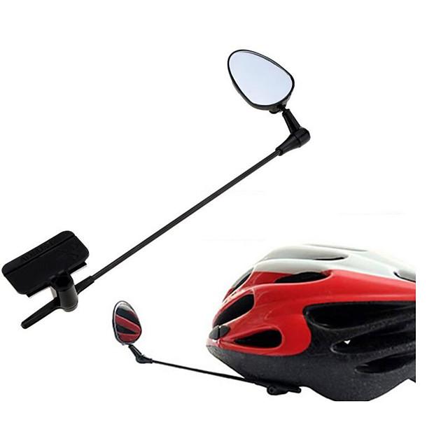 กระจกติดหมวกกันน็อกจักรยาน 360 องศาเที่ยวบินพลิก สามารถพับเก็บได้ การออกแบบให้เข้ากับสภาพการทำงาน จักรยาน รถจักรยานยนต์ จักรยาน ABS สีดำ 1 pcs จักรยานใช้บนถนน ขี่จักรยานสันทนาการ