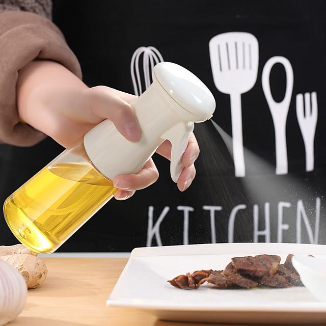Spruzzatore di olio da 210 ml per cucinare, spruzzatore di olio d'oliva, flacone spray per olio d'oliva, distributore di olio d'oliva per insalata, barbecue, cottura al forno, arrosto, plastica 1pz